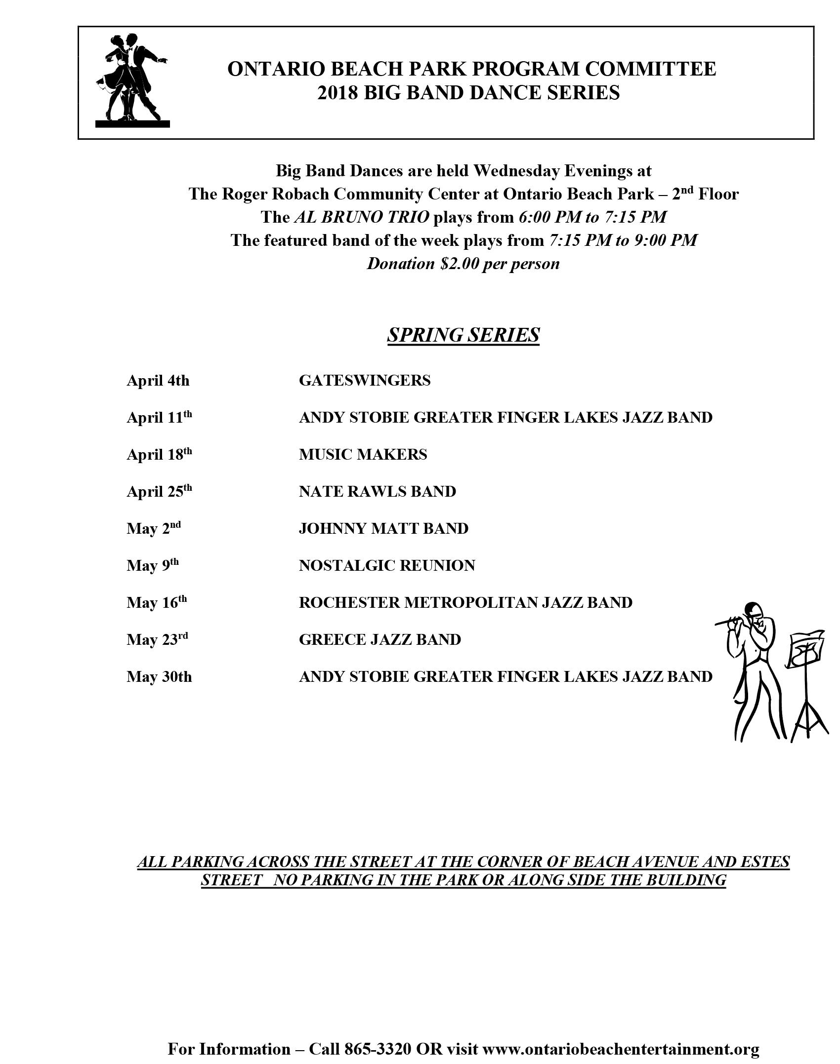 Spring 2018 Big Band Schedule